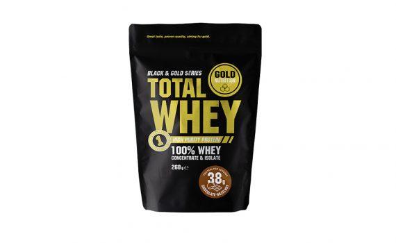 Total Whey Ciocolată și Alune 260GR GoldNutrition