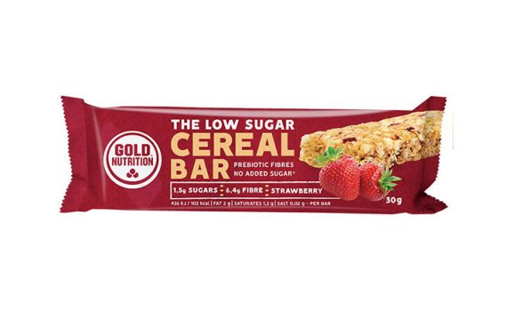 Goldnutrition Baton Cereale Low Sugar Capsuni 30G